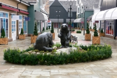 Bears, Belgian Fossil Marble - Bicester Village Retail Park, Oxford, 2008