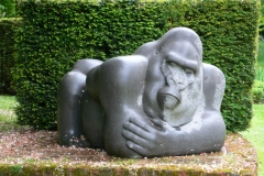 Gorilla, Belgian Fossil Marble - Lord Carrington's Sculpture Garden - 1994