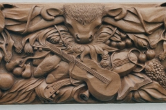 High Relief Carving, Mahogany - Private Client - 1981