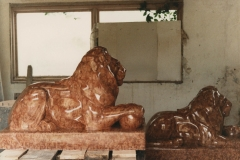 Pair of Lions, Verona Marble - Private Client - 1997